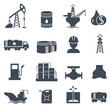 Set of oil and gas grey icons Petroleum industry - 71127726