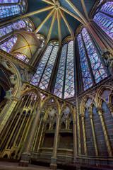Interior of the Sainte Chapelle, Paris, France