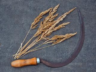 Серп и пучок травы