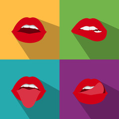 pop art woman lips