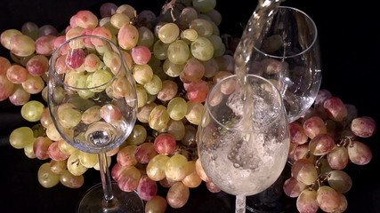 Sparkling Wine Pouring into a Glass