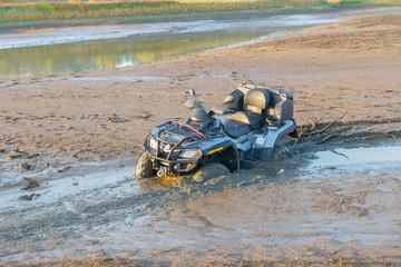 ATV drowned in the mud