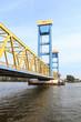 Leinwanddruck Bild - Kattwykbrücke Hamburg Süd