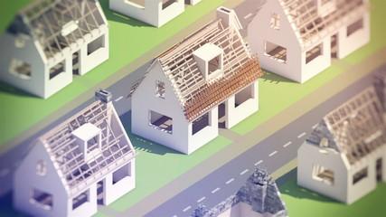 A new neighborhood under construction (cg, full hd)