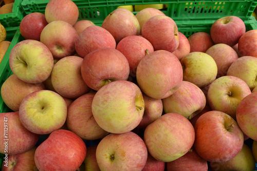 canvas print picture Äpfel auf dem Markt