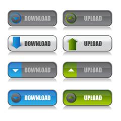 Download button set. Vector set for web