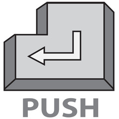 vector quote sign button push