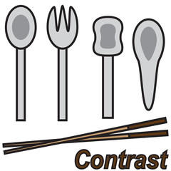 vector quote sign chopstick contrast