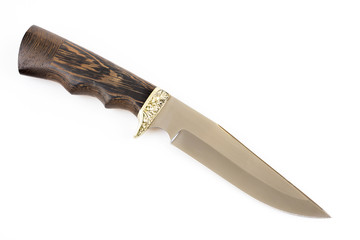 Hunting knife isolated