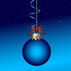 Blaue Weihnachtskugel