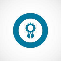 achievement bold blue border circle icon.