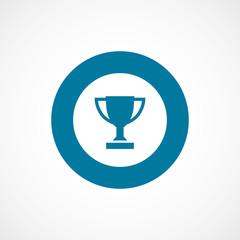 winner cup bold blue border circle icon.