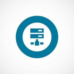 net drive bold blue border circle icon.