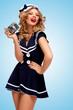 Vintage sailor girl.