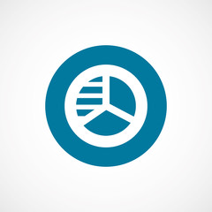 circle diagram bold blue border circle icon.