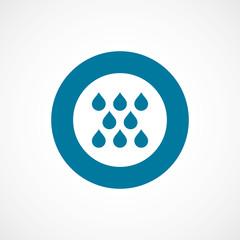 rain bold blue border circle icon.