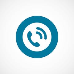 call bold blue border circle icon.
