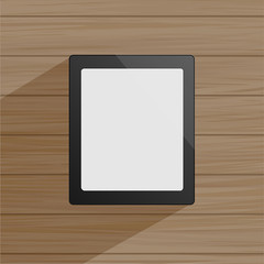 Tablet with shadow