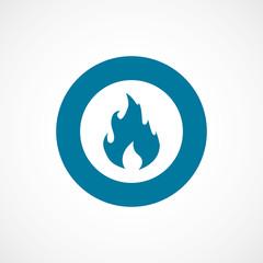 fire bold blue border circle icon.