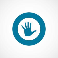 arm bold blue border circle icon.