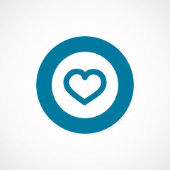 heart bold blue border circle icon.