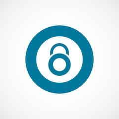 lock bold blue border circle icon.