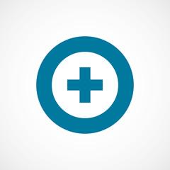 plus bold blue border circle icon.