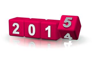 2014 > 2015 Würfel Silvester Banner Pink