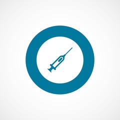 syringe bold blue border circle icon.