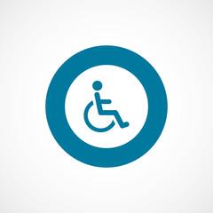 cripple bold blue border circle icon.