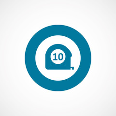 measurement bold blue border circle icon.