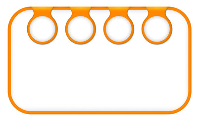 orange text frame for any text