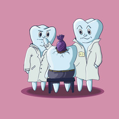 Tooth with doctors