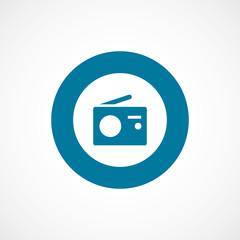 radio bold blue border circle icon.