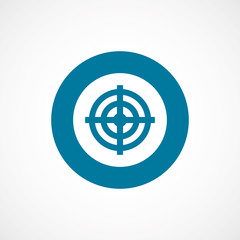 target bold blue border circle icon.