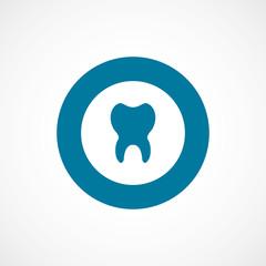 tooth bold blue border circle icon.