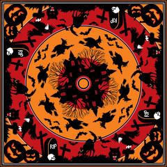 halloween square ornament