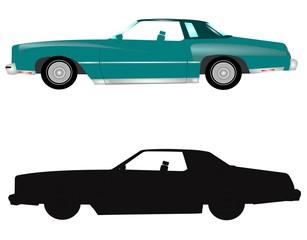 vintage auto in 2 styles