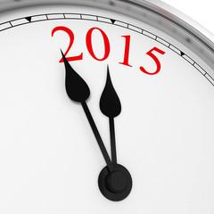 2015 on a clock