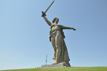 """Mamayev Kurgan and the sculpture """"the Motherland calls"""""""
