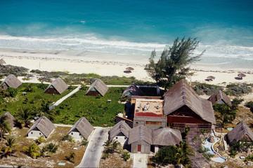 villaggio turistico veduta aerea mare dei caraibi cuba