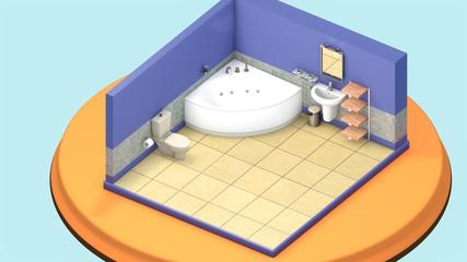 Isometric mini Bathroom