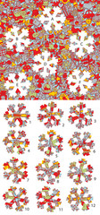 Christmas: Match pieces, visual game. Solution in hidden layer!