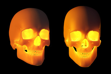Glowing Halloween Skulls