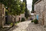 Vieille rue en pierre et façades de Rovinj