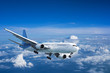 Jet aircraft above the clouds