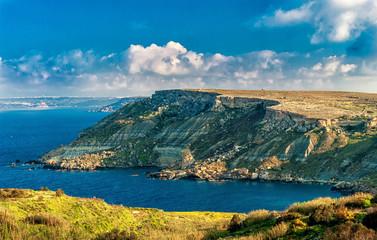 sunny day. Malta Island