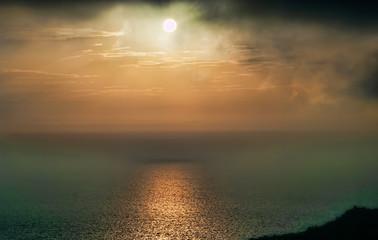 Mediterranean sea view from Dingli cliffs, Malta.