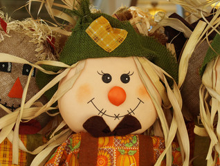 Cute happy scarecrow