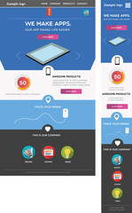 Responsive web template - including mobile and desktop version